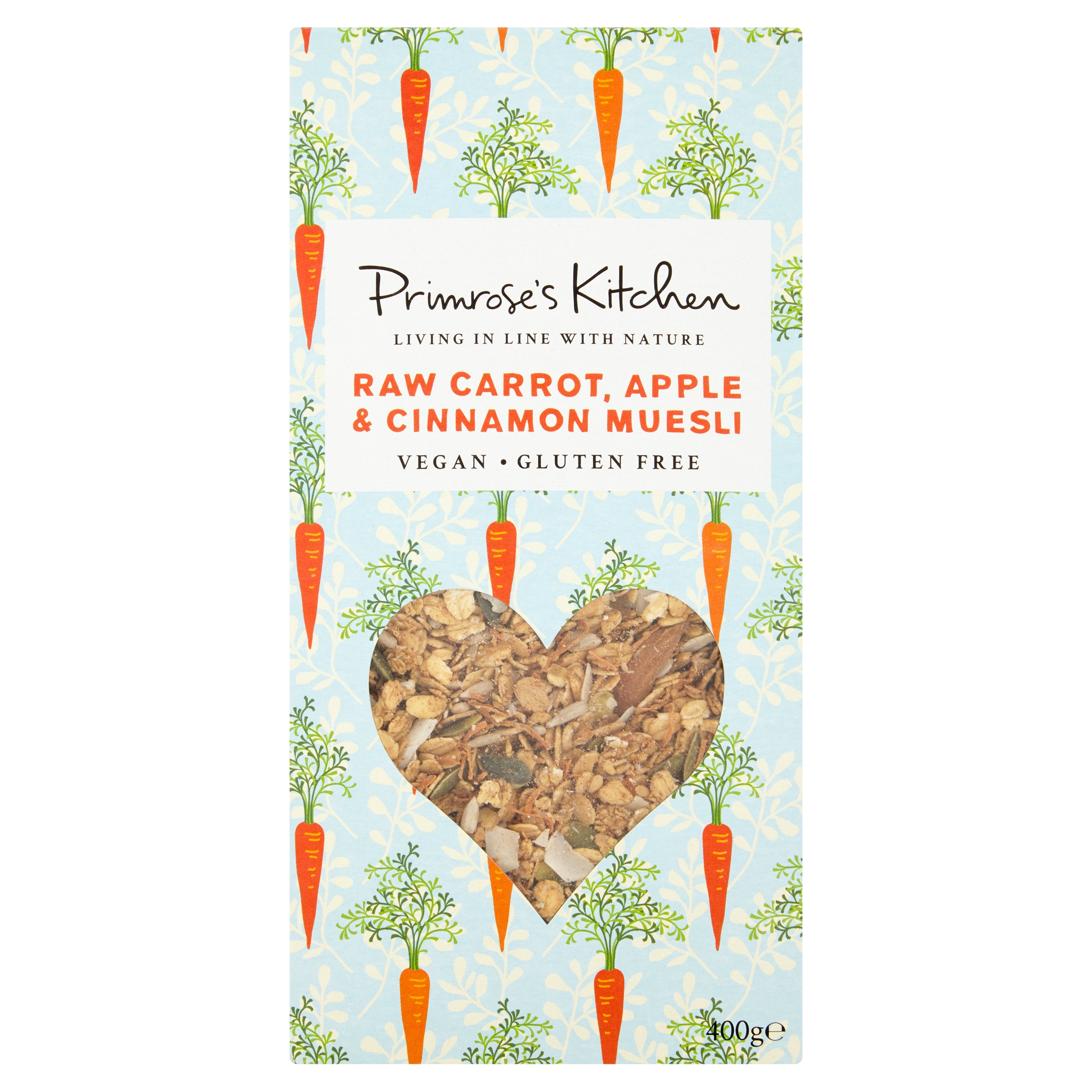 Raw Carrot, Apple & Cinnamon Muesli 400g