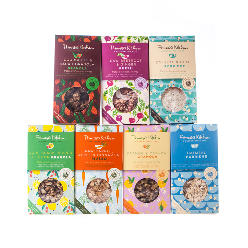 Varieties Of Organic, Raw, Vegan Muesli