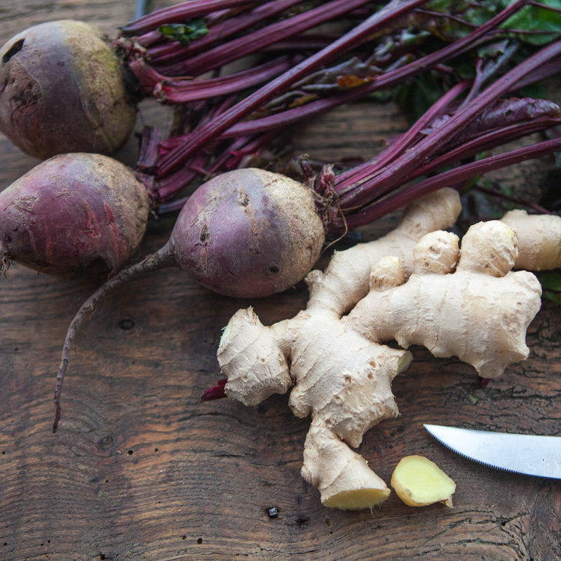 Fresh Ginger And Beetroot